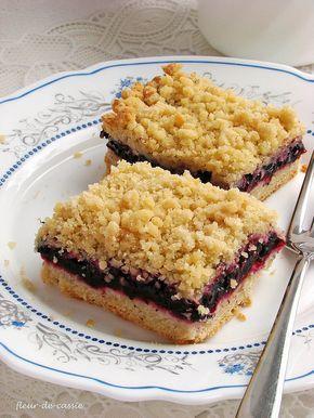 Черничный обсыпной пирог
