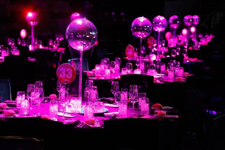 Disco centerpiece 70 39 s party pinterest melbourne for Decoration 70s party
