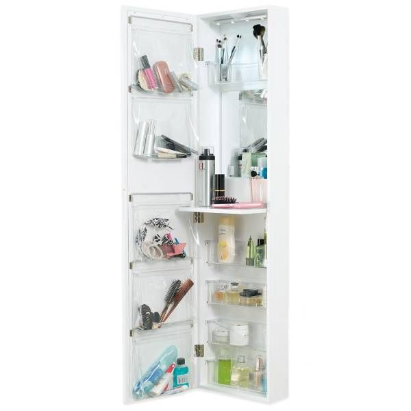 Product Image for Door Solutions™ Over the Door Mirror and Cosmetic Organizer 1 out of 2