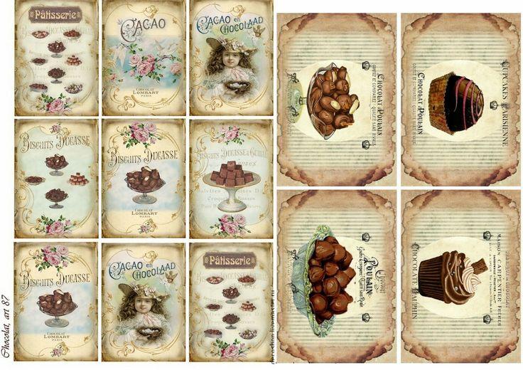 Etiquetas de Chocolates estilo Vintage para Imprimir Gratis.