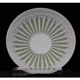 Saucer: Green and White Wedgwood, C1790