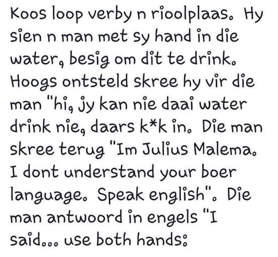 Ek moes hierdie een maar pin. #afrikaans #grappe #snaaks #lol #joke #malema #humor