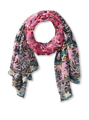 58% OFF Jules Smith Women's Aztec Scarf, Pink/Teal