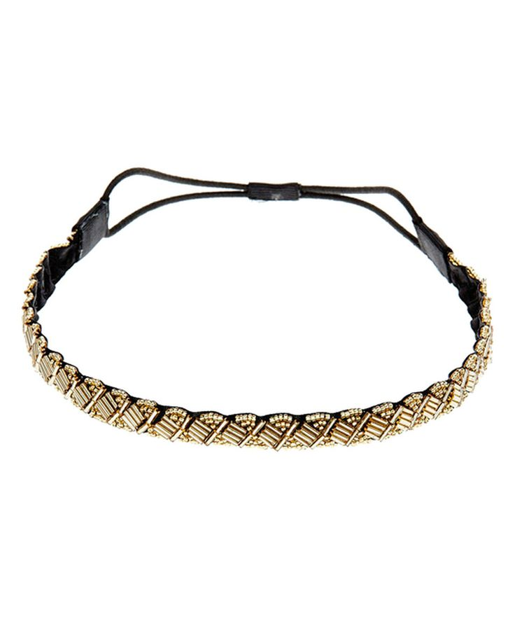 Look what I found on #zulily! Gold Beaded Headband by dELiA*s #zulilyfinds