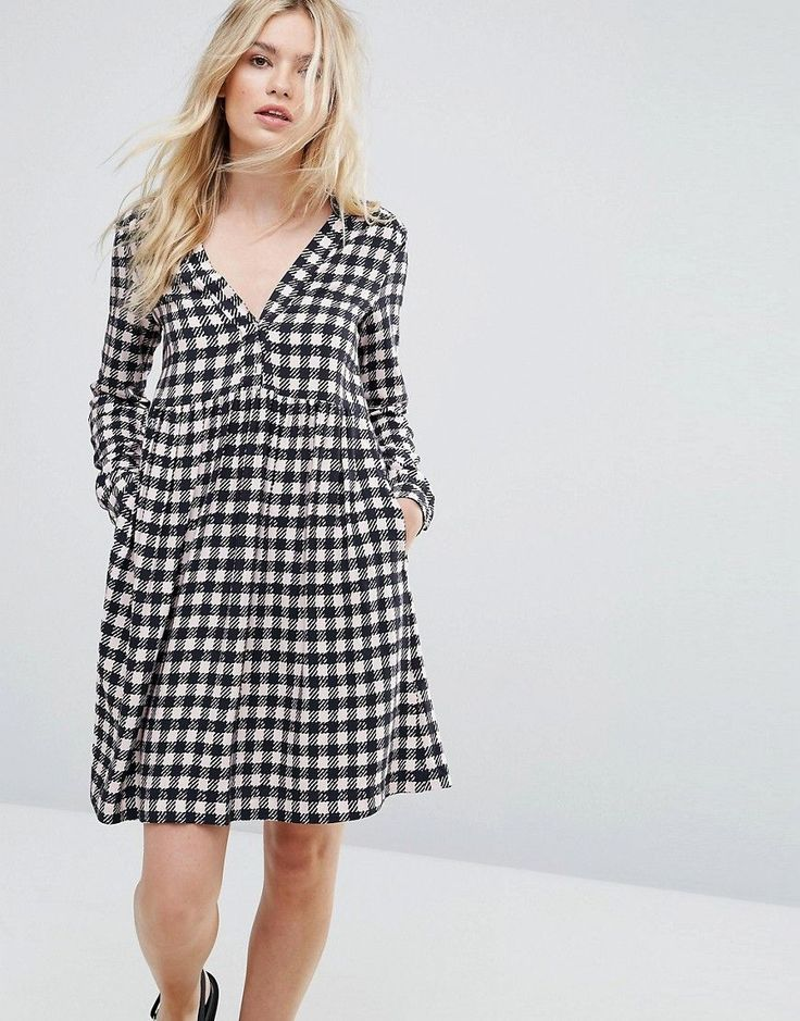 Max&Co Dedica Gingham Shirt Dress - Multi