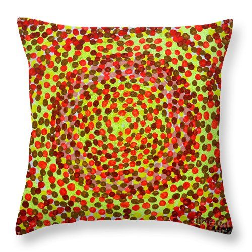 'Sun King' - Throw Pillow #pixelscom #fineartamerica #pillows #cushions #dots #sun #sunking #circles #paganstyle #homedecor #homestyle #modernhome #giftsforthehome #xmasgifts #giftideas #shopping