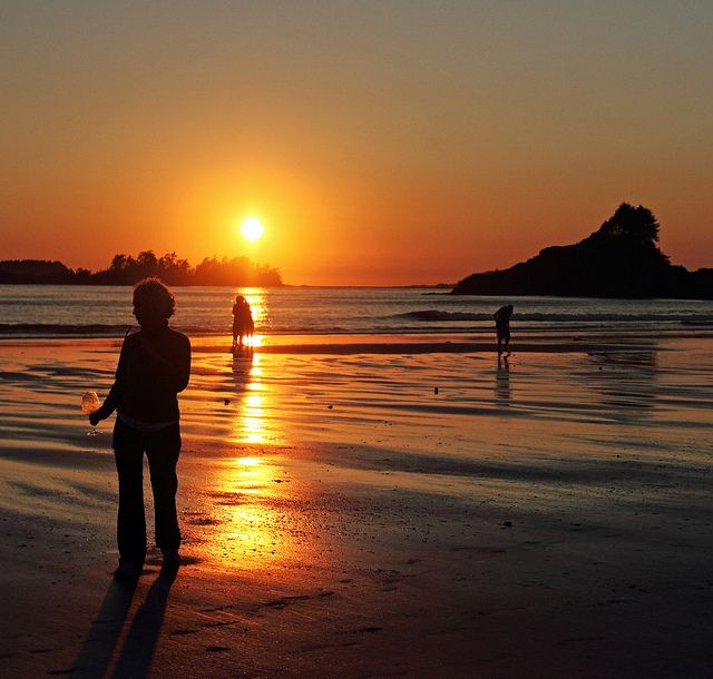 Sunset on Long Beach in Tofino, BC #Tofino #Uclelet