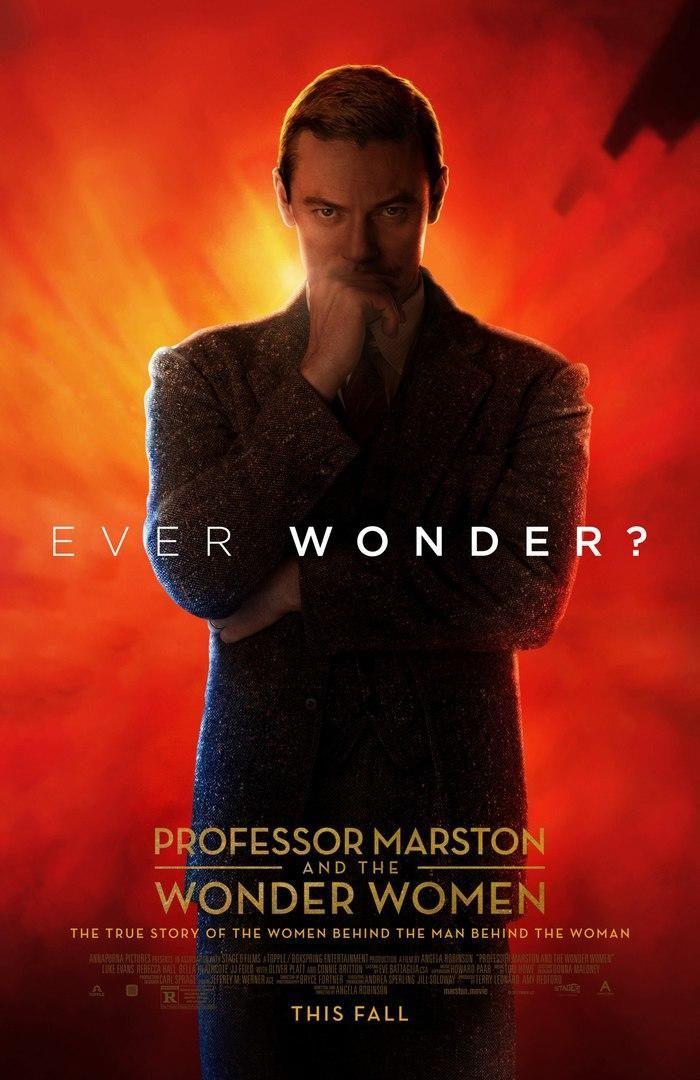 Люк Эванс и другие на новых постерах фильма «Профессор Марстон и Чудо-Женщины» Скоро на экраны выйдет картина о профессоре психологии, который боролся за феминизм и получил интересный результат.