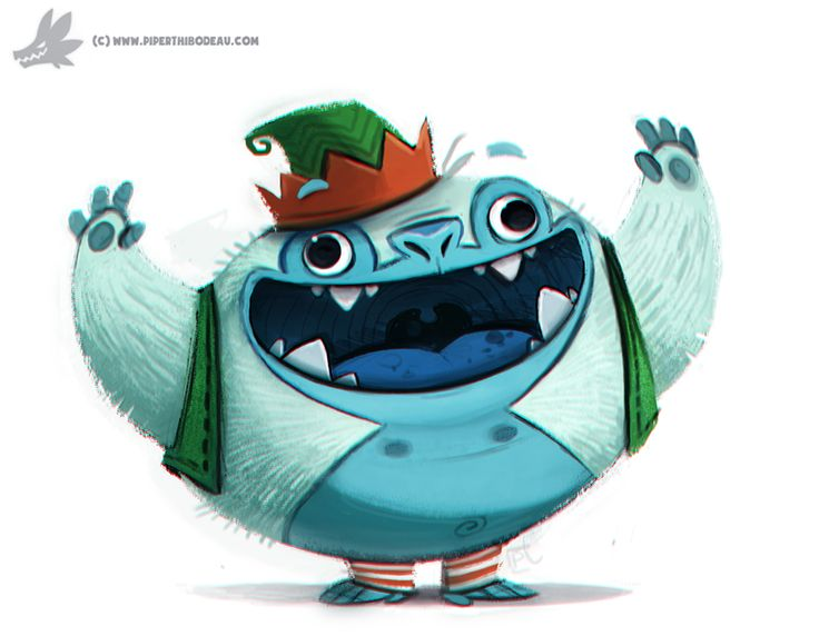 Daily Painting 762. Yeti Helper by Cryptid-Creations.deviantart.com on @DeviantArt