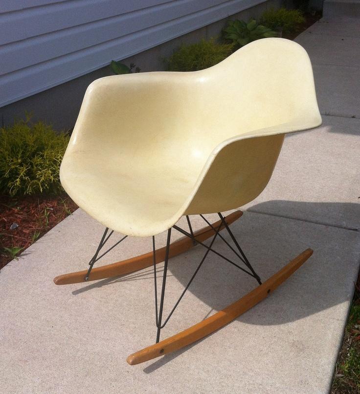 Vintage Charles Eames Rocker 1950's. $850.00, via Etsy.