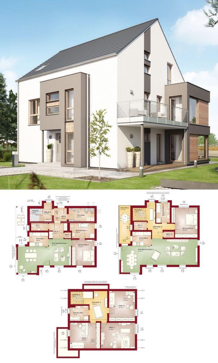 Grundriss Zweifamilienhaus mit Einliegerwohnung
