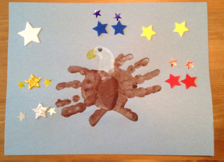 Handprint and Footprint Eagle Craft - Fourth of July Craft - Patriotic Craft - USA Craft