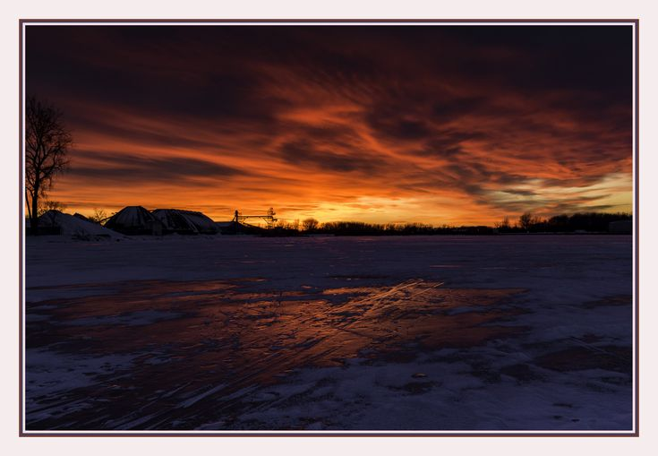 https://flic.kr/p/223AtTC | amazing sunset tonight as reflected in the Saginaw River ~ 18* | 218a 1 - TAC_6838 - lr-ps - frame