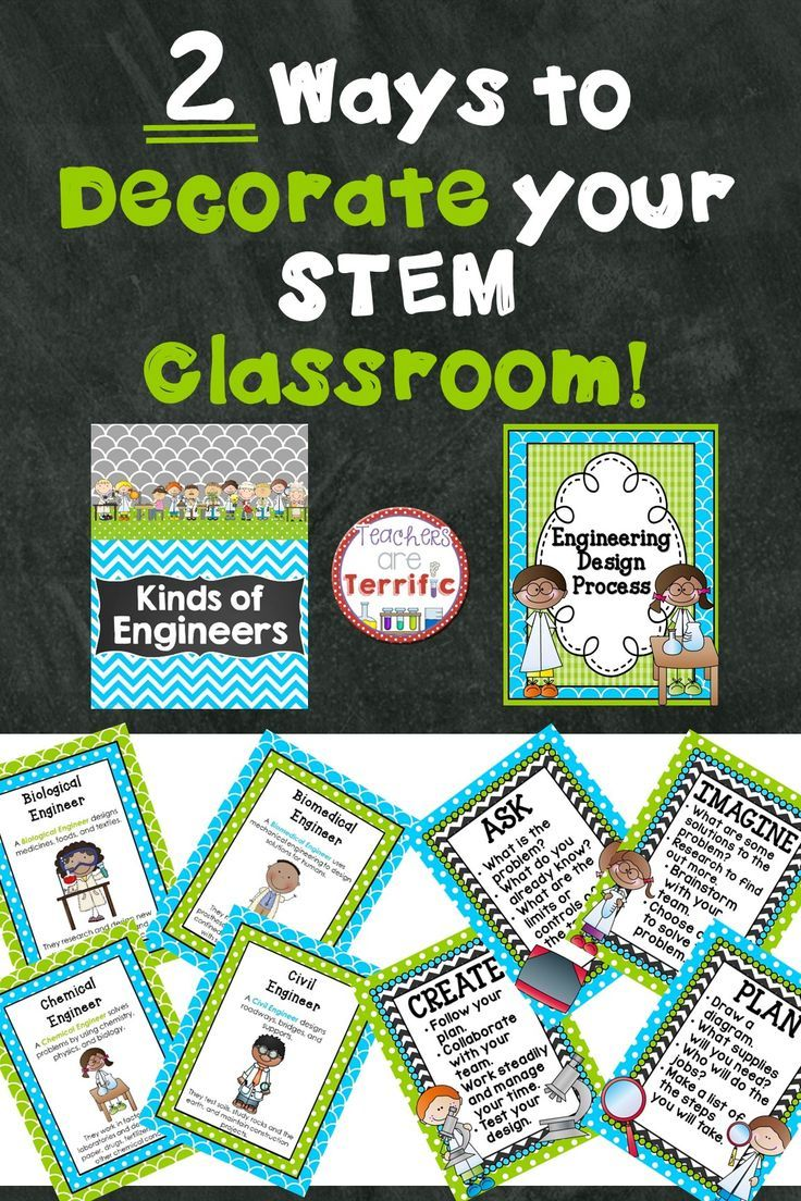 183 best bulletin boards images on pinterest science lessons a mini bundle in bright turquoise and lime green celebrating stem includes posters of kinds