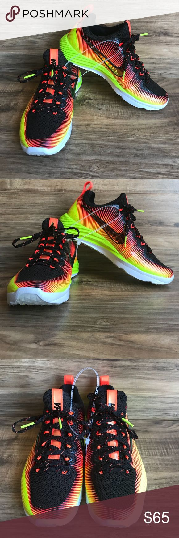 New Nike Vapor Speed Solar Flare Turf Shoe Size 5 New Nike Vapor Speed Solar Flare Turf Shoe Size 5  850673-798  Turf football; lacrosse shoe; New without box; these were a display model and have been tried on  Smoke and pet free home Nike Shoes Sneakers