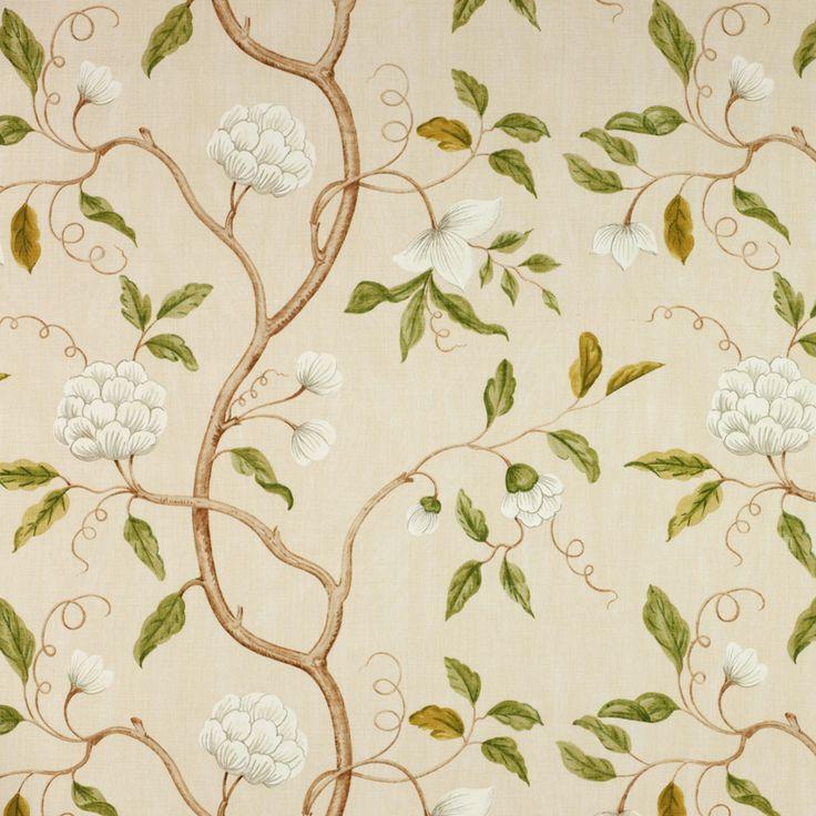 Textil 57105: Snow Tree Cream från Colefax & Fowler - Tapetorama