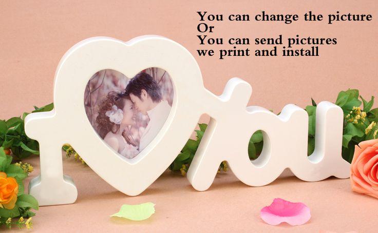Фото стены Фото рамка в форме сердца, искусственное дерево письмо любовь стены стикеры для украшения Дома свадебные украшения стены