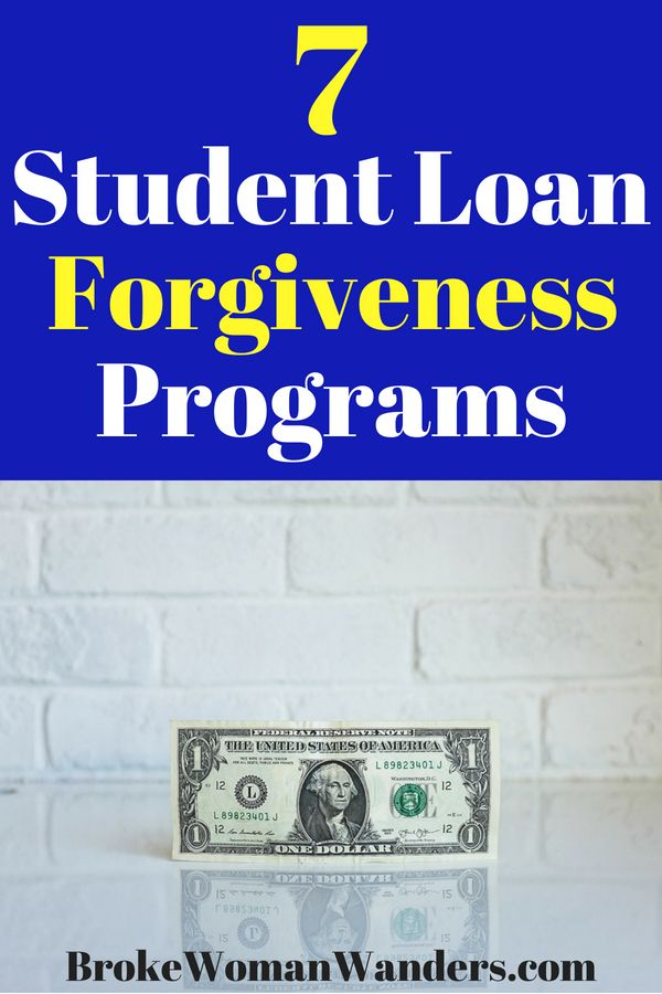 7 Student Loan Forgiveness Programs Funded by the Government