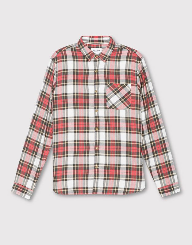 Checked teen shirt with pocket - Shirts - Clothing - Man - PULL&BEAR United Kingdom