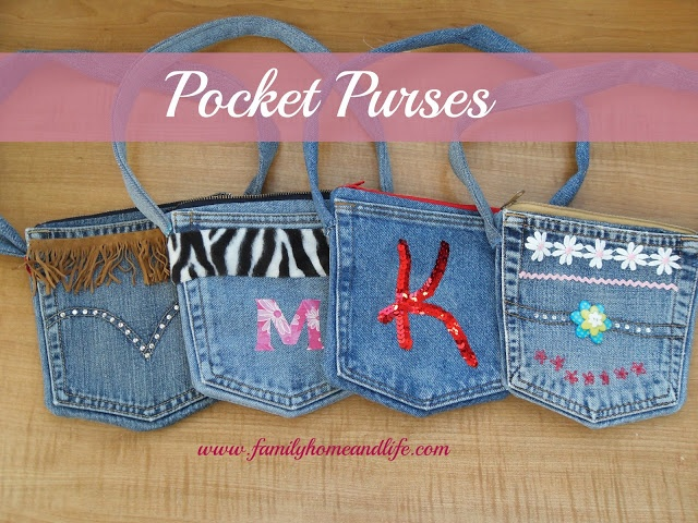Family Home and Life: Pocket Purse Tutorial