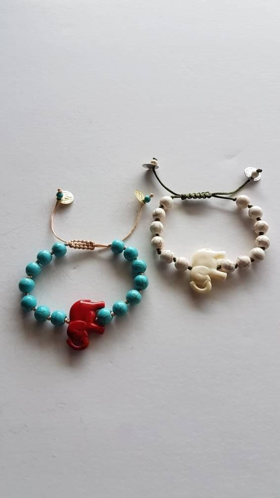 Check out this item in my Etsy shop https://www.etsy.com/listing/606968985/handmade-bracelet-with-elephant-howlite