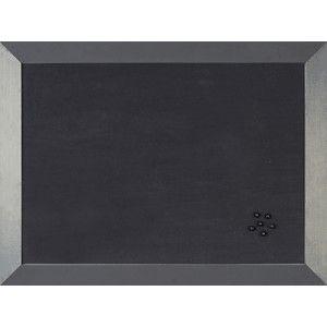 Tablero de corcho Kamashi elegante y sofisticado con marco ancho que aporta robustez y elegancia.  Color: Antracita  Medidas: 45 x 60 cm.