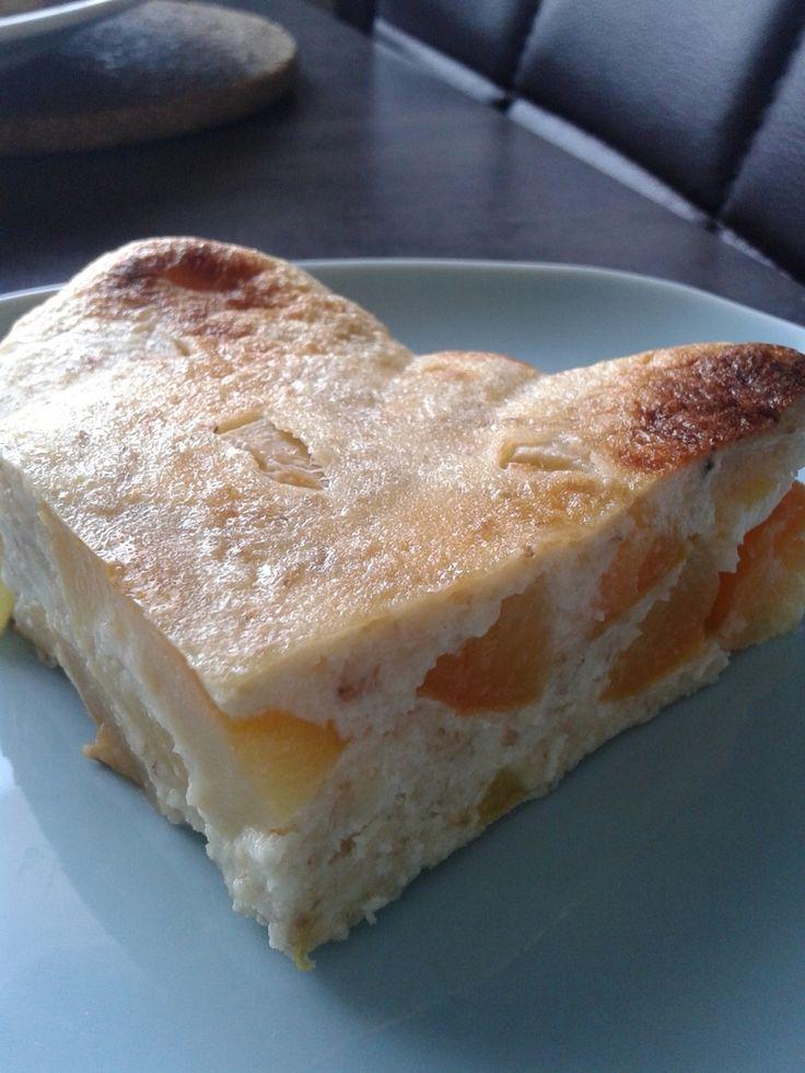 Gâteau prunes et flocons d'avoine 0 en JSC si édulcorant 1 en JSC si sirop d'agave pour 4 parts en petit déjeuner 50gr de flocons d'avoine 25gr de semoule très fine 3 oeufs 250gr de fromage blanc à0% 2CS de sirop d'agave 8 prunes ____________________________...