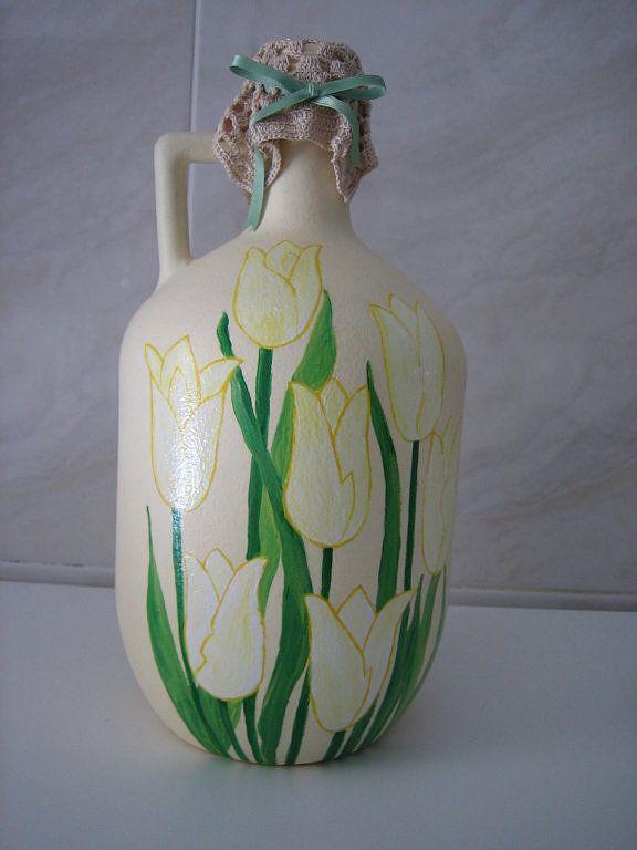 46 best images about damajuanas de vidrio decoradas on pinterest bottle altered bottles and - Botellas decoradas manualidades ...