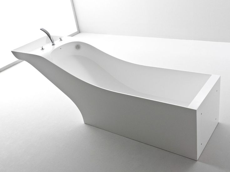 Contemporary bathtub with built in wahsbasin