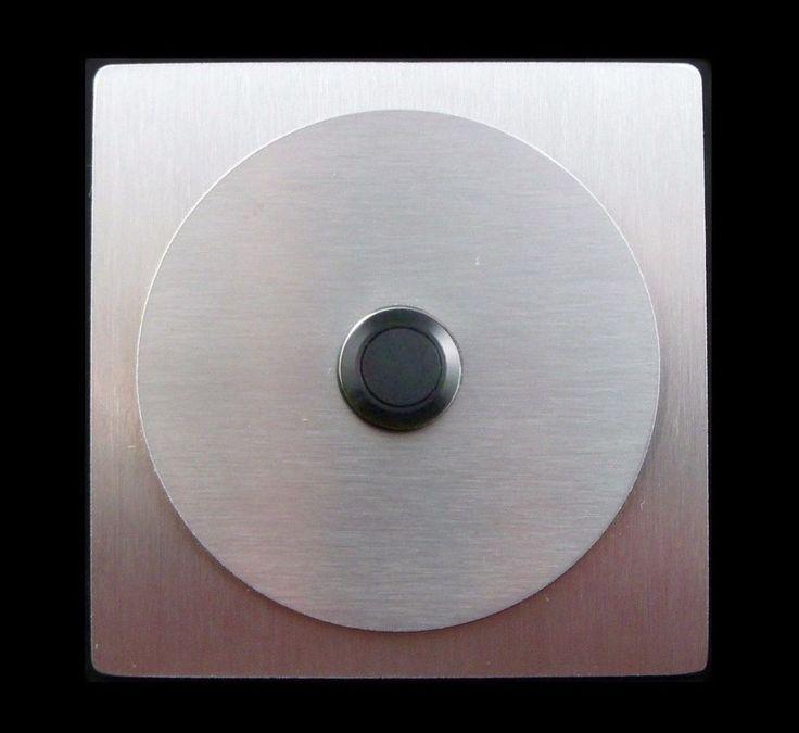 TÜRKLINGEL. Klingelplatte- EDELSTAHL - Knopf  PVC Schwarz- Design - Quadrat&Rund