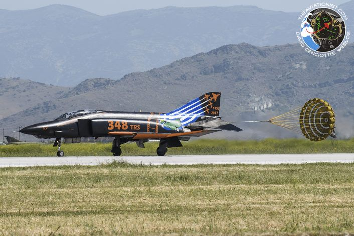 "The Aviationist » The Hellenic Air Force Has Retired Its Last RF-4E Phantom Jets. The new ""End of the Film"" special color lands during the Spotter Day on May 4, 2017."