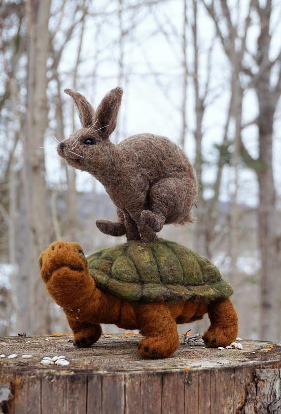 needle felted animal tortoise and the hare needlefelted soft felting pinterest filzen. Black Bedroom Furniture Sets. Home Design Ideas
