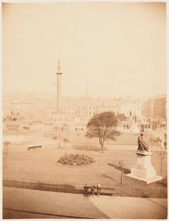Thomas Annan - View of George Square, Glasgow, 1868