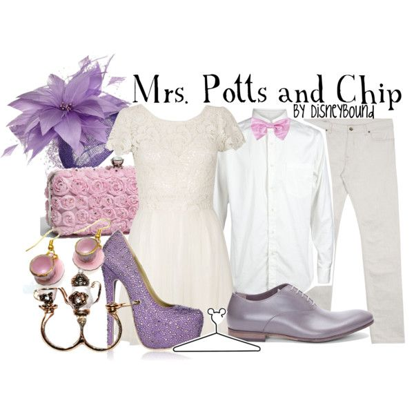 Mrs. Potts and Chip, created by lalakay on Polyvore