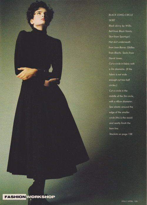 Dolly April 1987 | The Shape Of Skirts To Come (Belinda Riding) 06