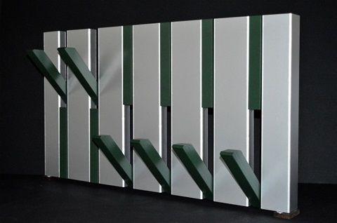 aluminium/groen - www.kapstokopmaat.nl