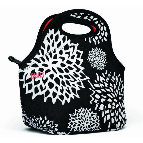 BUILT NY Gourmet Getaway Neoprene Lunch Tote Lunch, Dahlia ($15) ❤ liked on Polyvore featuring home, kitchen & dining, food storage containers, lunch tote, lunch sack, neoprene lunch tote, reusable lunch sack and neoprene lunch bag