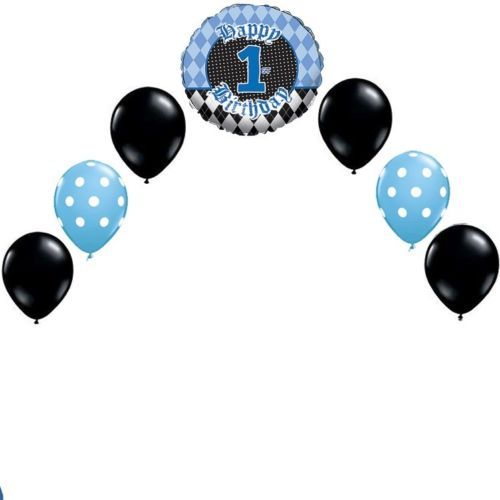 Head Table Helium Balloon Arch Diy Kit Birthdays Lil Rebel Polk Dot Blac Small