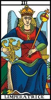 Arcano 3.  La Emperatriz.  L imperatrice. Tarot de Marsella.