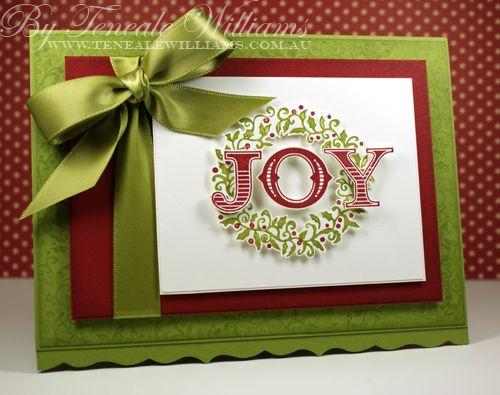 Case study challenge 14 stampin up christmas green for Elegant christmas card ideas