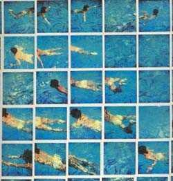 David Hockney / One of my favorite photographers. He has done paintings also.