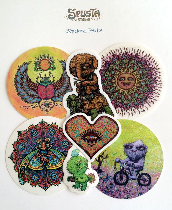 silkscreen sticker packs by marq spusta