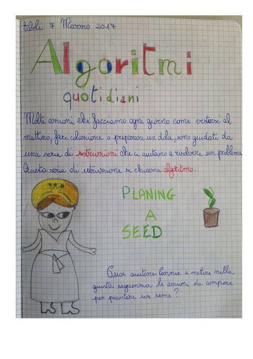 """""""I  MIEI QUADERNI DEL CODING"""" ESPERIENZE  DI CLASSE . (SCUOLA PRIMARIA)"""
