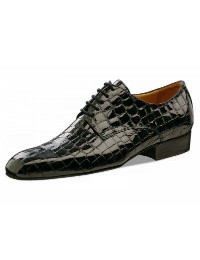 Chaussures de danse noire effet croco, Parana Nueva Epoca en cuir