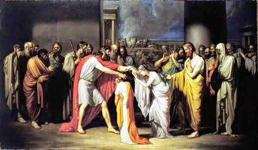 Édipo e Jocasta: Édipo ouviu da pitonisa do Oráculo de Delfos que mataria o próprio pai e se casaria com a mãe. Édipo fugiu da cidade, mas não sabia que fora criado por pais adotivos. Perambulando pela Grécia, matou seu pai biológico de forma cruel, decifrou a Esfinge e virou Rei de Tebas, casando com Jocasta, que posteriormente descobriu ser sua mãe. Ela se matou e Édipo furou os olhos.