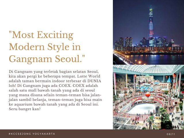 Liburan Korea - Gangnam Seoul 23 Oktober 2017 KCC Sejong Jogja
