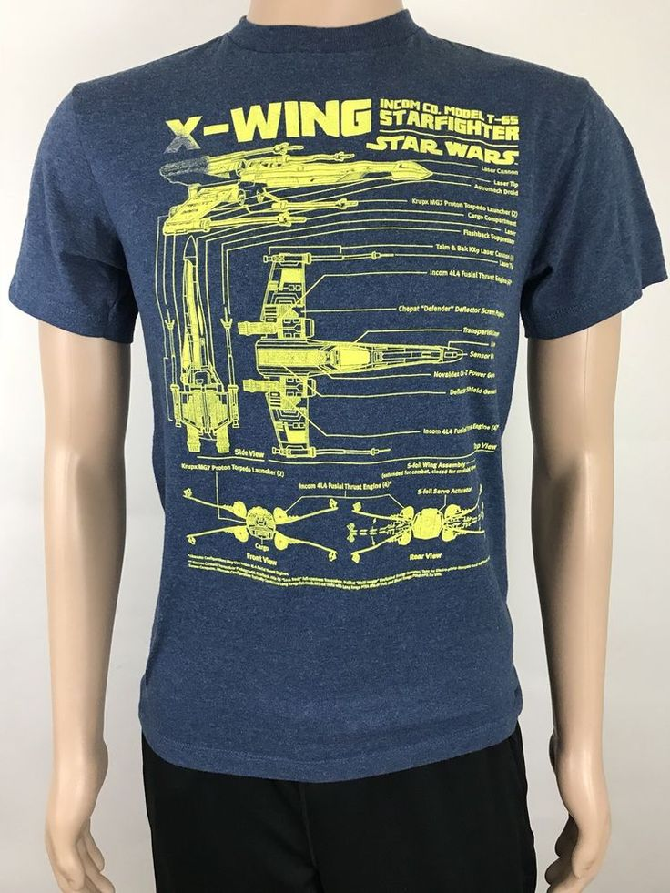 STAR WARS Unisex T-Shirt Small X-Wing Schematics Model T-65 Starfighter Blue  #StarWars #GraphicTee #starwarsTee #shopping #selling #forsale #Xwing #starfighter #starwarsxwing #buyitnow #ebay #ebaystore #topratedseller #shopmystore