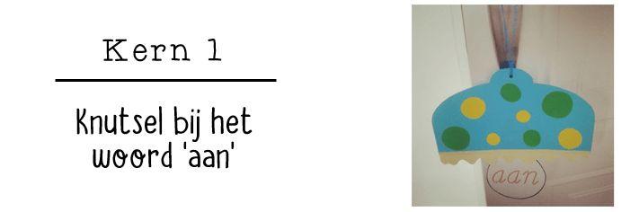 JufShanna: Kern 1 (VLL) - knutsel bij het woord 'aan'