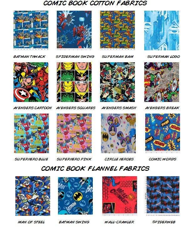 CUSTOM Comic Book Baby Bedding - 4 Piece Crib Bedding Set - Geek Baby Nursery - Handmade, DC, Marvel, Avengers, Batman. $275.00, via Etsy.