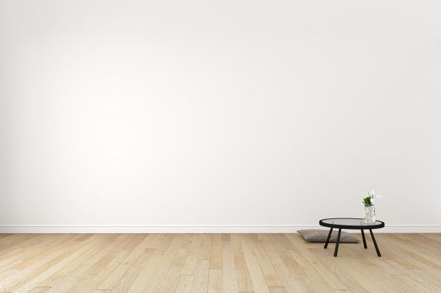 Japanese Living Room Interior On Empty White Wall Background